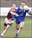 Johnny Leonard chasing Kevin Doherty All-Ireland semi final 18-02-2001