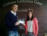 Deirdre Omalley winner of 2 All Ireland Tickets