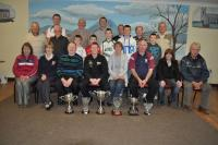 Jason Devanney Irish Senior Snooker Champion 2011, with supporters from Crossmolina Deel Rovers