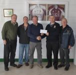 Anthony Gill, AGS presents sponsorship to T Jordan Club Chairman