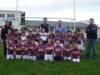The 2008 Under 8s wearing the new jersies with Anthony Gill AGS main sponsor, 5-09-08