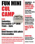 Mini Cul Camp Sat 27/12/14