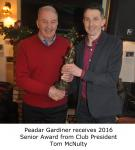 Tom McNulty Presents Peadar Gardiner 2016 Senior Player of the Year