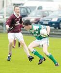Gerard Haran in action versus The Neale in drawn U14A county semi final 2008