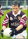 Paul McGuinness on the ball during the Connacht semi final 03-11-2002