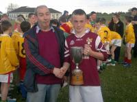 Presentation of North Mayo National Schools B Cup to Crossmolina Captain by Enda Munnelly North Board, 1-07-2011