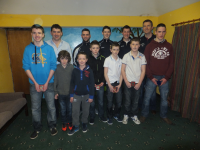 Players of the year 2013 at Bord na nӓg Awards night Feb 2014