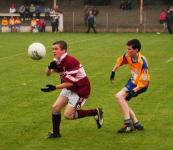 Action from the North Mayo U16A final where Deel Rovers were unlucky to lose out