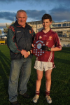 North Chairman Ml McKenzie presents 2013 U14B Shield