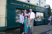 James Geraghty, Geraghty's Pharmacy & Healthstore sponsors socks for Under 8 squad