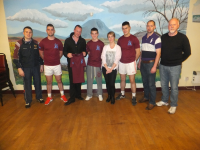 Minors receiving tops from Eamon & Vickey Moore, The Thatch Bar