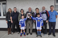 OBoyle Family presenting Fergal OBoyle Memorial Cup Oct 2013