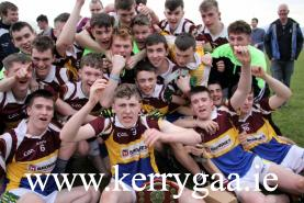 Cordal Scart Minor team celebrating winning Division 3A of MFL 16