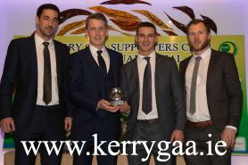 Kerry Football All Stars, Anthony Maher, Donnchadh Walsh, Shane Enright and Brendan Kealy pictures at the Kerry GAA Supporters A