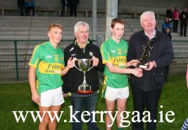 Man of Match Shane Conway & Captain with Hurling Offcier and Sponsor Acorn Life