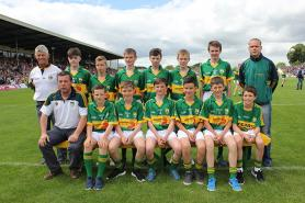 Cumann na mBunscol Boys in action at half time