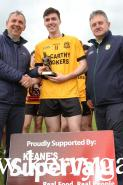 Kerry Minor Manger Peter Keane of Keanes Supervalu Killorglin presented the Man of the Match award to Listowel's Eddie Browne