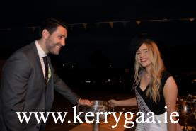 Kerry Captain Bryan Sheehan with Kerry Rose Danielle O'Sullivan