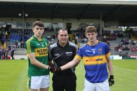 Captains with Referee before throw in