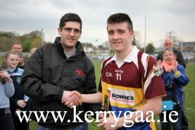 The Keanes SuperValu Kilorgin man of match Eddie Horan