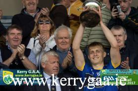 Kerry Junior Captain Killian Spillane life the All Ireland Junior Cup