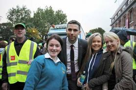Marc Ó Sé with fans in Tralee