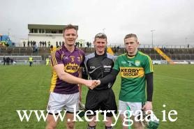 Kerry & Wexford captains & referee