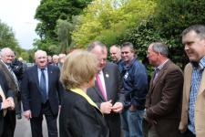 Liam O'Neill meeting officers of Inniscarra GAA