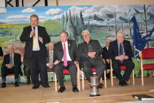 Bob Ryan speaking at Presidents visit in Cloghroe