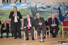 Bob Ryan speaking at Presidents visit in Cloghroe