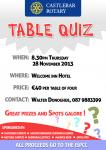 Table Quiz 28th nov 2013