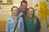 Pearse O'Neill with Bride Rovers fans at Scór