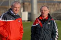 Gerard Lane & Terry O'Neill at McGrath Cup Cork v WIT