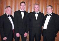 Jim Forbes, Andrew O'Sullivan, Gerard Lane and Michael Scanlon at Munster Awards