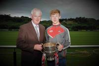 Presentation of Munster Cups to winning capts by Ger Lane at July CCB meeting