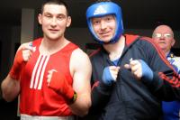 Noel O Leary lines up with John O Connor from Thurles