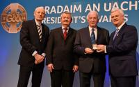 Denis Hurley receiving a GAA President's Award -