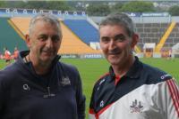 Selector Peadar Healy and kit-man Mick Curtin at Training