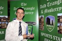 John Carey Dripsey Winner of the Muskerry GAA/Auld Triangle Sports Award for July