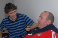 M F Coach Brian Cuthbert with Irish Examiner