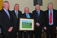 Dave Hegarty Castlelons Honoured for 45 years service to his club