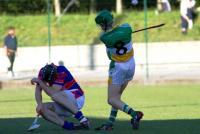 Jason Pratt Bride Rovers in action v Erin's Own