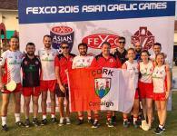 Flying the Cork Flag at the Fexco Asian Gaelic Games in Shanghai