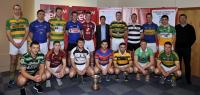 RedFM SHL Launch 2015. Diarmuid O'Leary, CEO RedFM and Jimmy Barry-Murphy, Manager, Cork Senior Hurling Team with club players