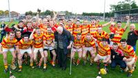 Legendary Club Secretary Jimmy O'Mahony with PIHC County Champions Newcestown Páirc Uí Rinn 11.10.2015
