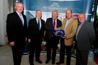 Jerry O Sullivan receives presentation from 96FM C103