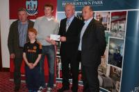 League Cheques Presentation - Castlehaven