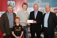 League Cheques Presentation - Castlehaven