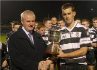 Gerard Lane Presents Conroy Cup to Aidan Ryan