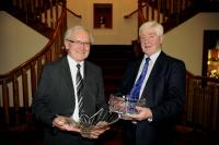 Retiring Muskerry Officers Aubert Twomey and Paddy O' Mahony